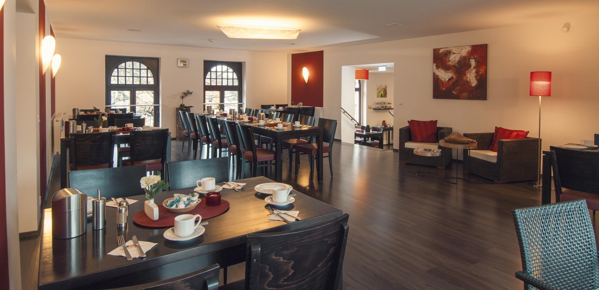 Frühstücksraum im Hotel Frechener Hof