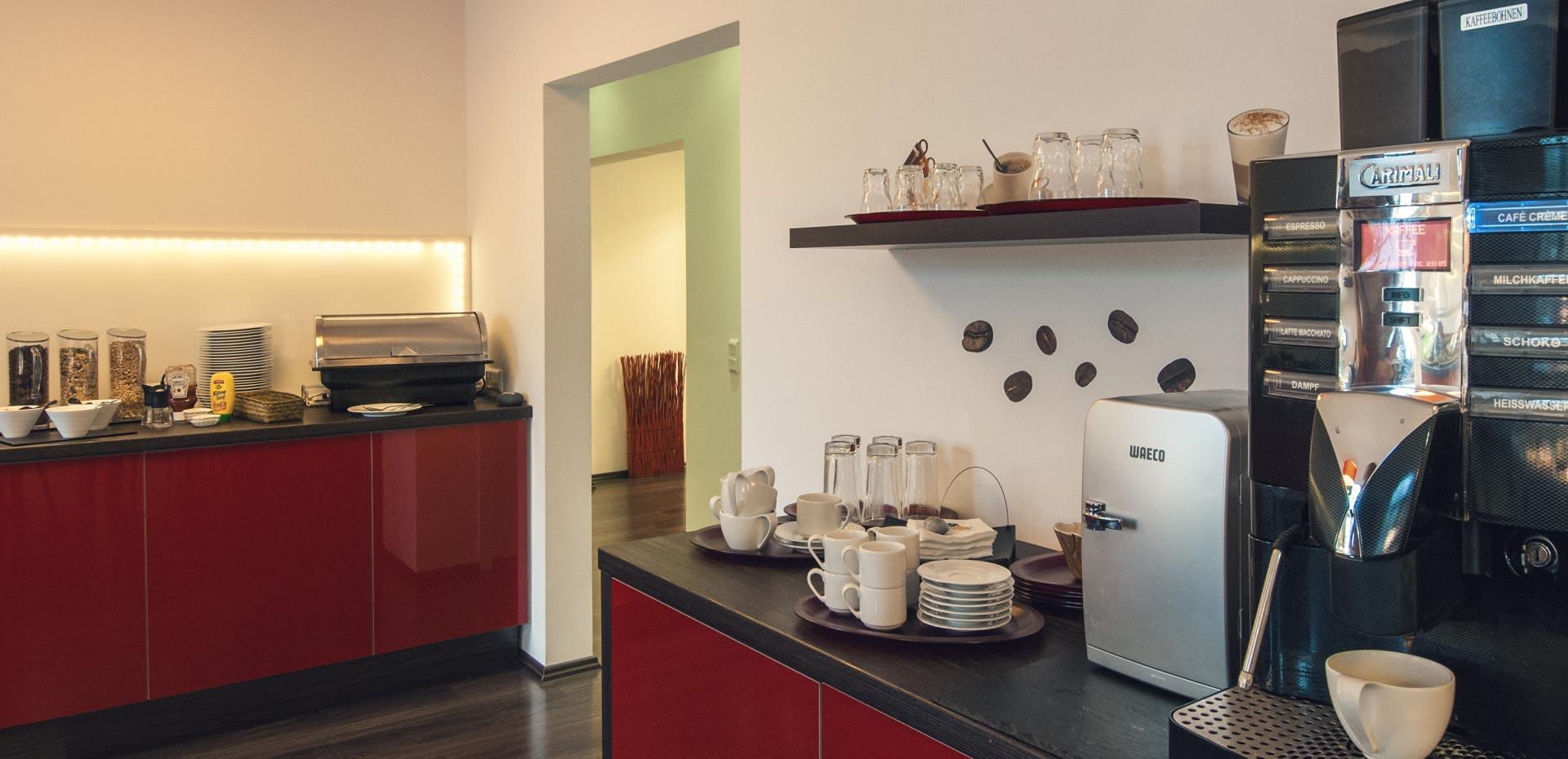 Kaffee und Tee zum Frühstück im Hotel Frechener Hof